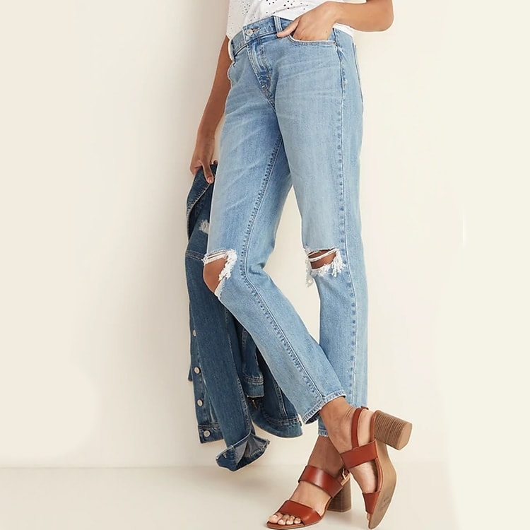 This pair of distressed denim is affordable and fit so well! #ABlissfulNest