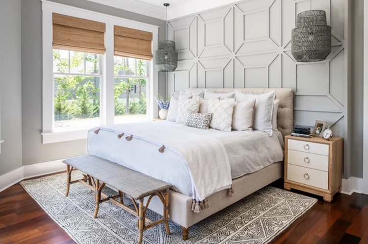 This bedroom in Mary Hannah Interiors' Dream Cottage is so beautiful!