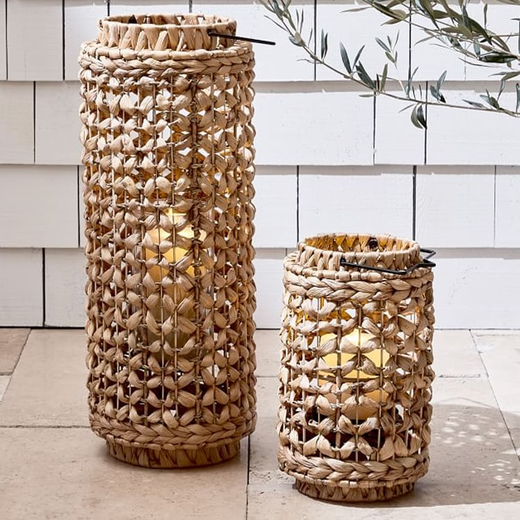 These hand woven laterns will take your patio to the next level! #ABlissfulNest