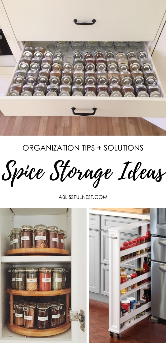 Spice Storage Ideas Organization Tips A Blissful Nest