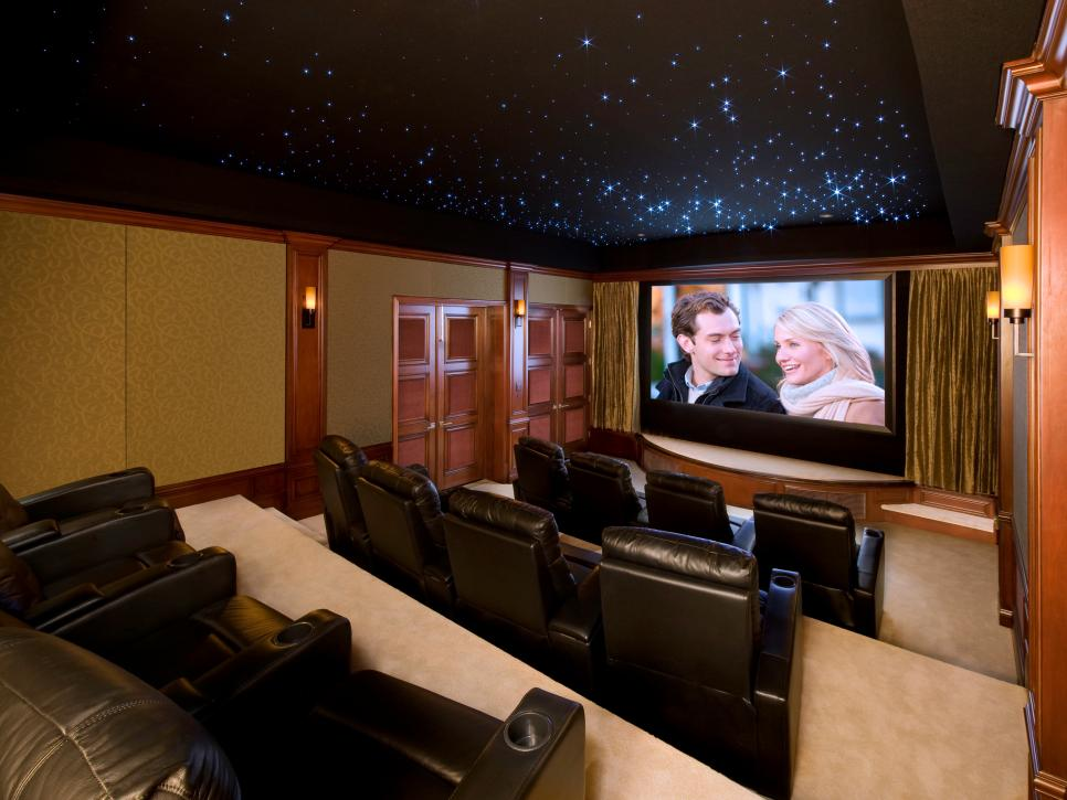classic and romantic home theater design