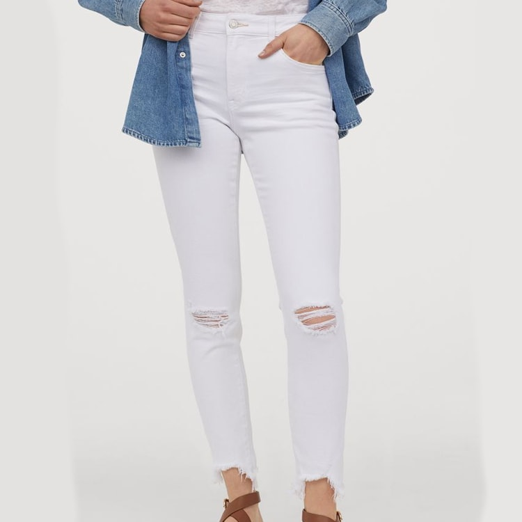 The cutest distressed jeans under $50! #ABlissfulNest