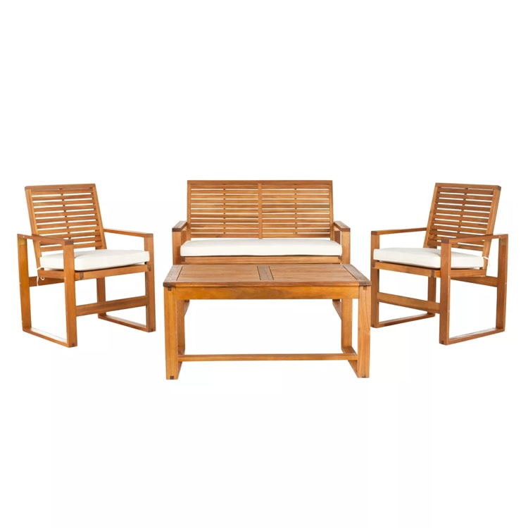 This wooden patio set is well under $500! #ABlissfulNest