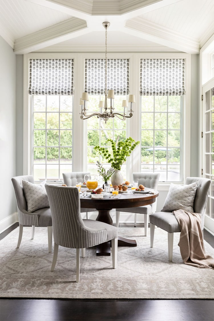 This dining area by Bria Hammel Interiors is so bright and beautiful!