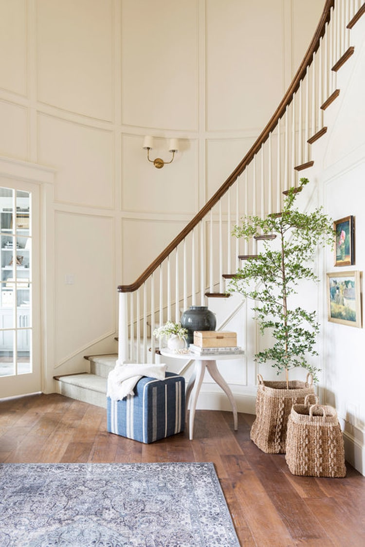 This beautiful entryway from McGee & Co's remodel is SO stunning!