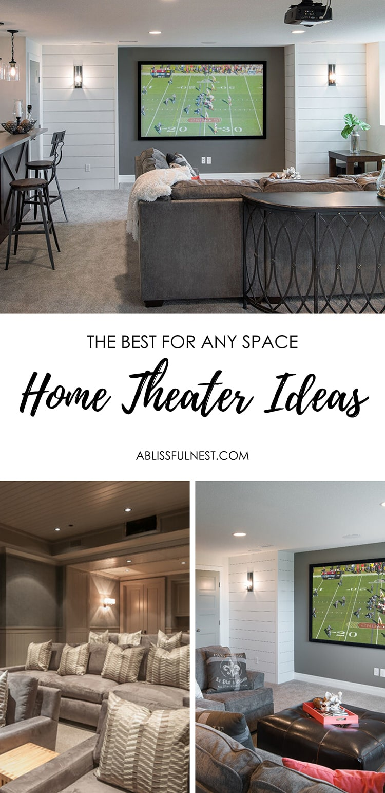 DIY, small and budget-friendly home theater design ideas. #theater #hometheater #mediaroom