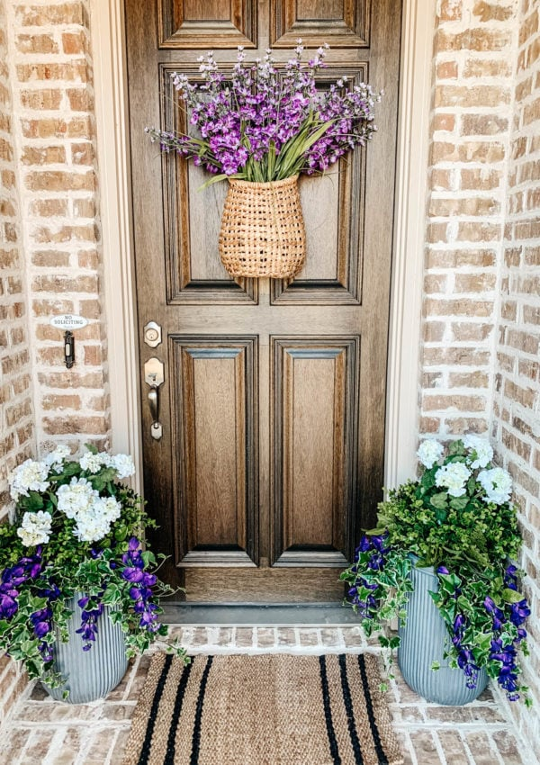 How to Fill An Outdoor Planter with Artificial Flowers and Faux Plants