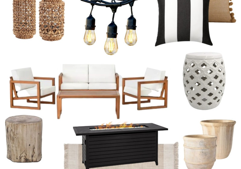 Get ready for summer with these stylish and affordable outdoor decor finds! #ABlissfulNest #outdoor #patio #summerdecor