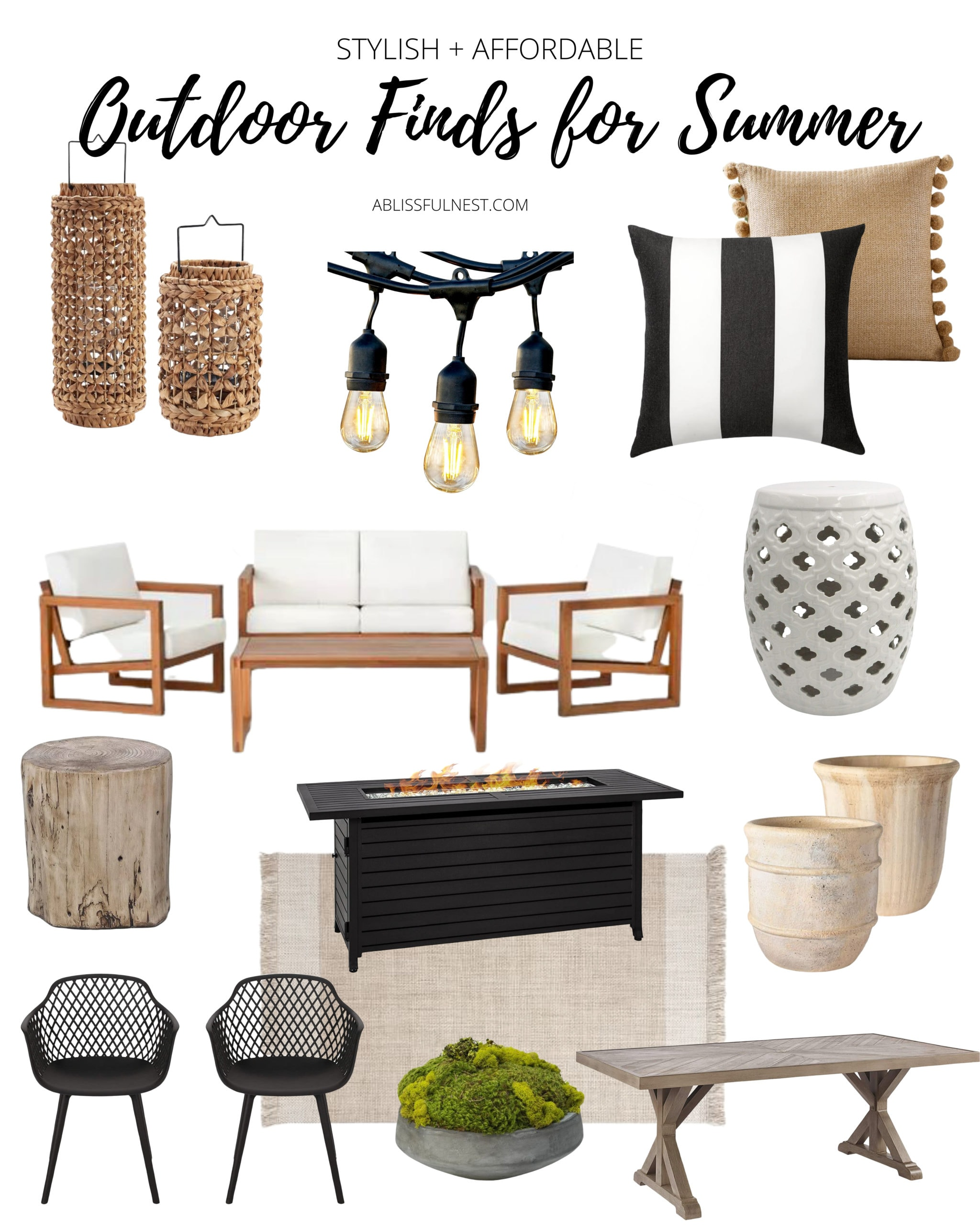 Stylish + Affordable Outdoor Decor Finds For Summer