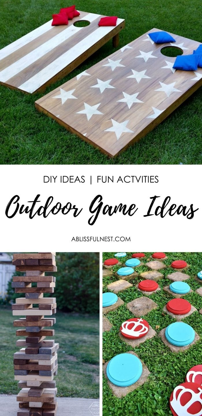 Simple tutorials for DIY outdoor games to entertain your family and friends.