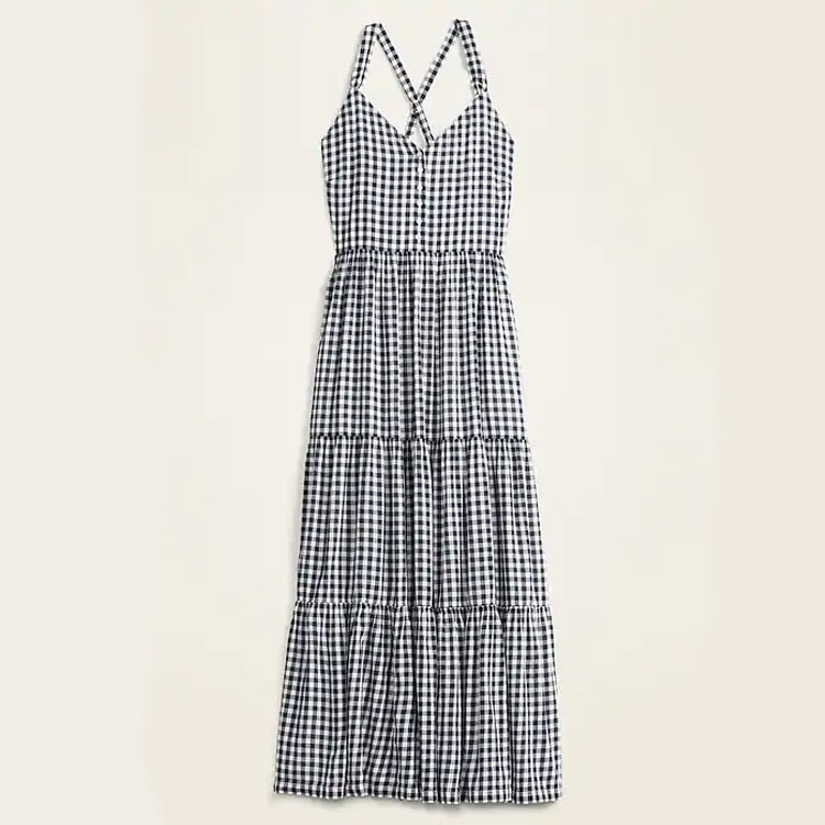 A beautiful, gingham maxi dress under $50 - perfect for summer! #ABlissfulNest