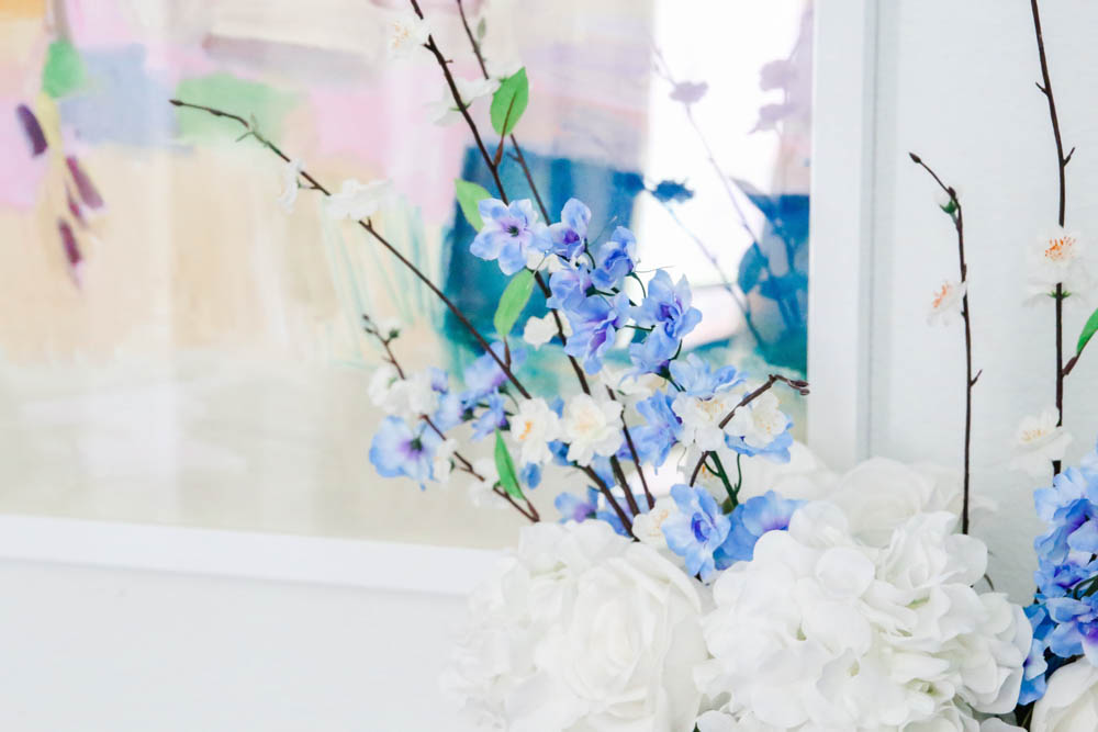 Faux florals, modern abstract art. #ABlissfulNest