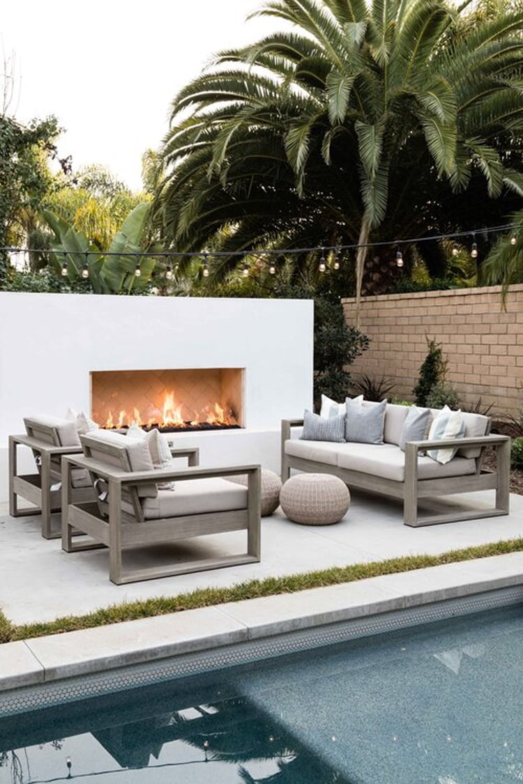 The most beautiful outdoor living space by Pure Salt Interiors!