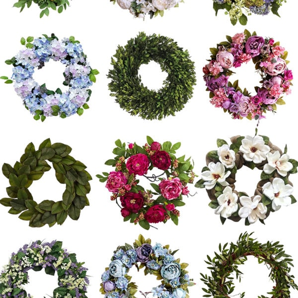 Beautiful summer wreaths for any style home - all affordable options.