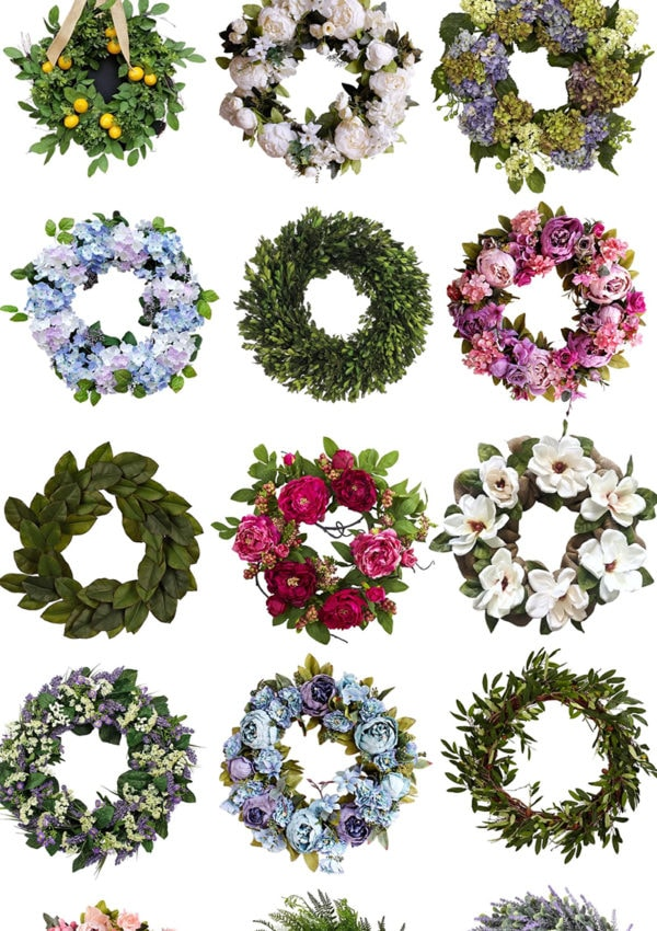 Beautiful & Affordable Summer Wreaths + Where to Buy Them