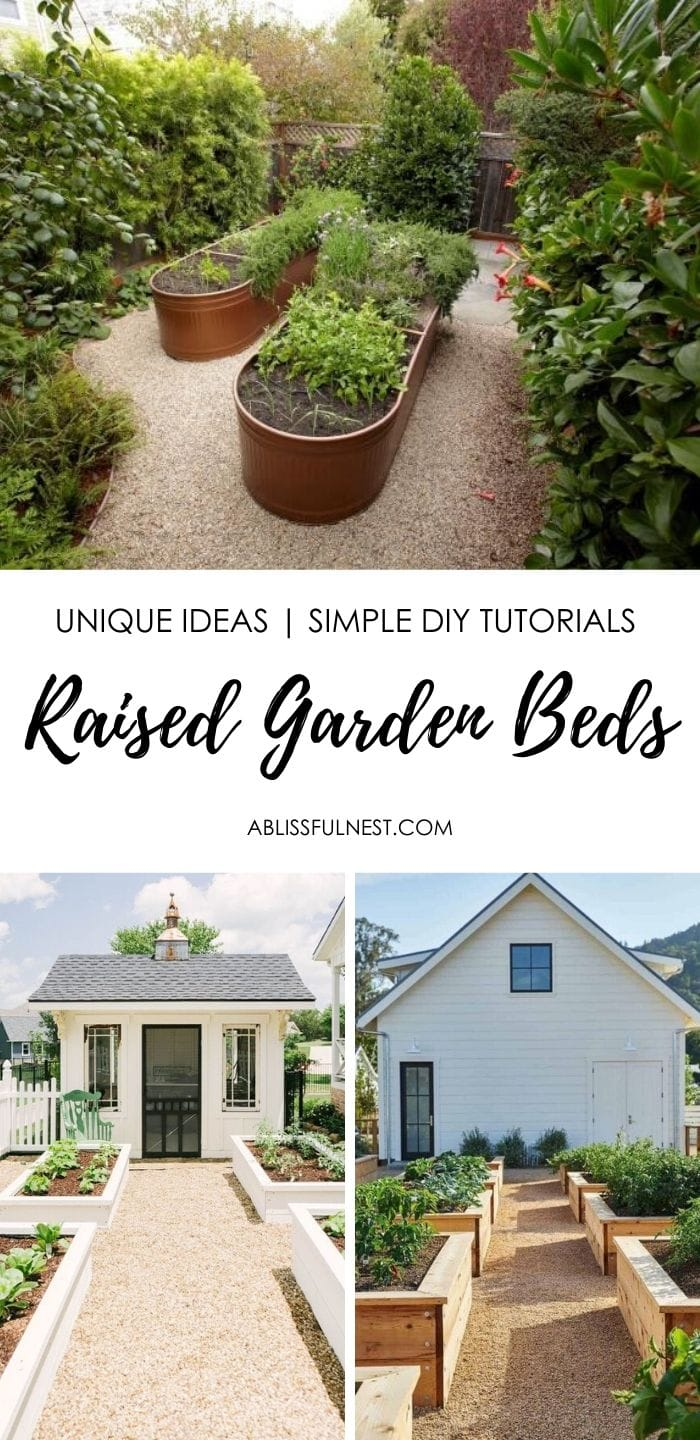 Add raised garden beds to your yard with these simple DIY tutorials.