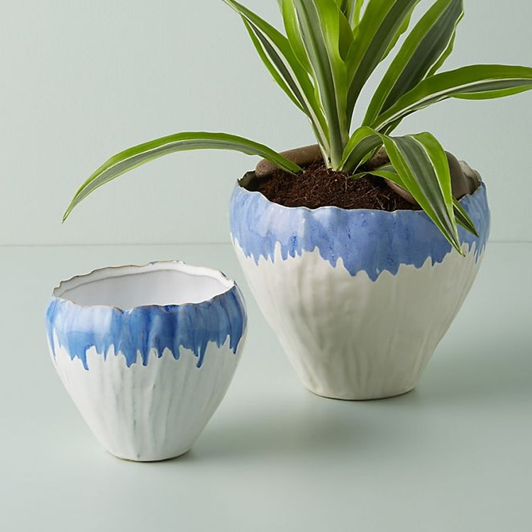 The prettiest blue ombre pots to add to your home! #ABlissfulNest