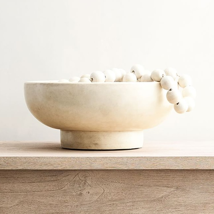 This hand crafted terra cotta bowl is perfect to add to your home! #ABlissfulNest