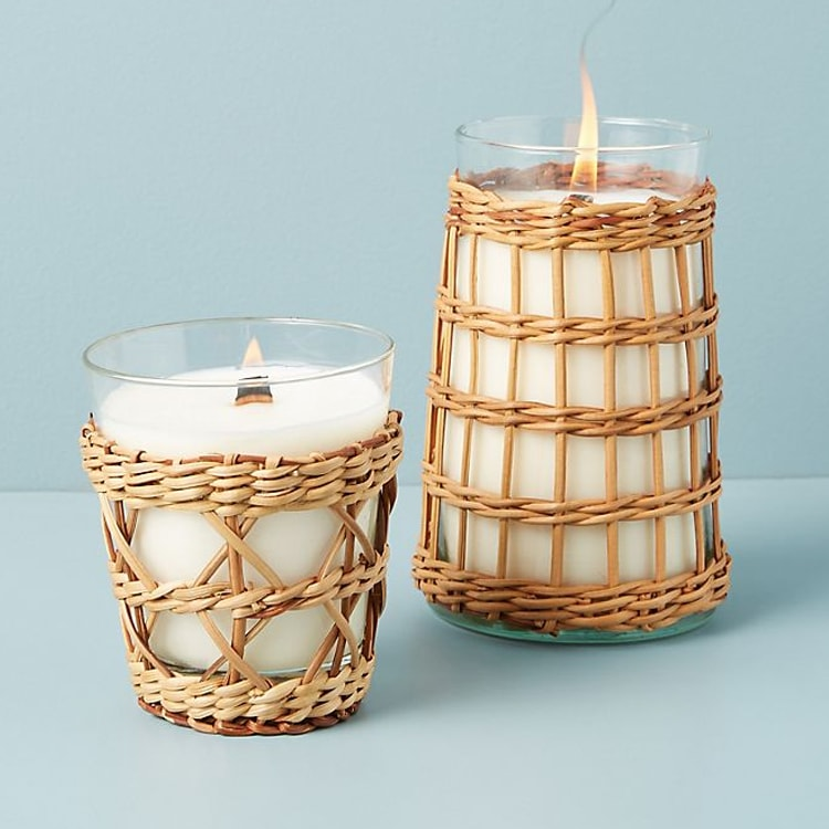 The prettiest rattan candles to add to your home this summer! #ABlissfulNest