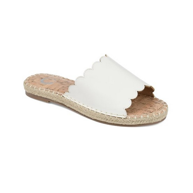 The cutest scalloped espadrille sandals for summer! #ABlissfulNest