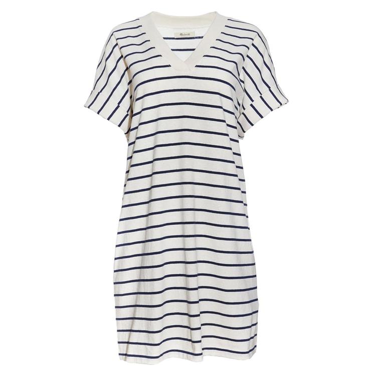 The cutest striped t-shirt dress for summer! #ABlissfulNest