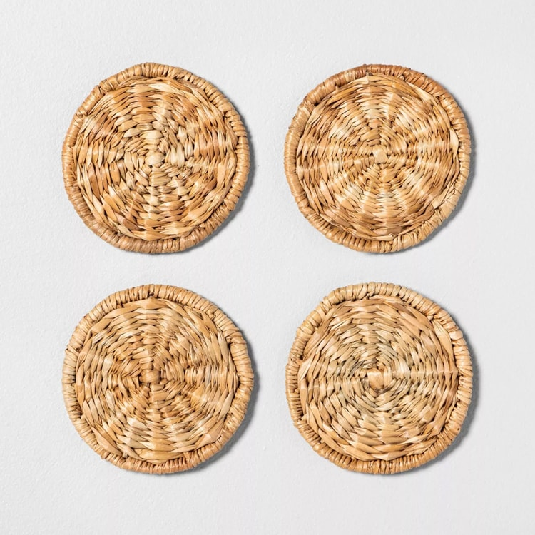 The funnest set of woven coasters to entertain with this summer! #ABlissfulNest