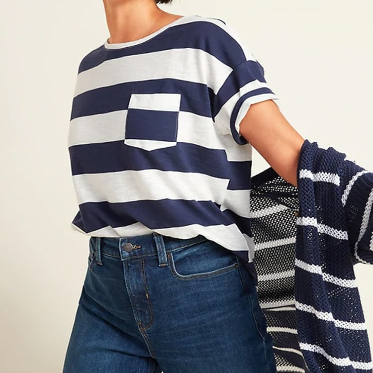 This striped t-shirt is so cute for a casual look! #ABlissfulNest
