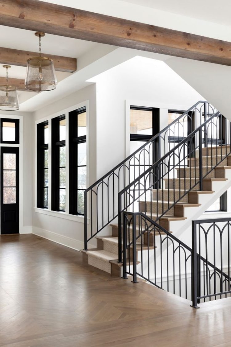 This beautiful stairway by Bria Hammel Interiors is a stunner!