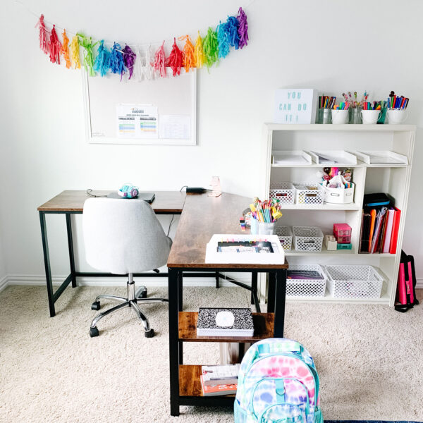 Smart ideas for homeschool spaces. #ABlissfulNest