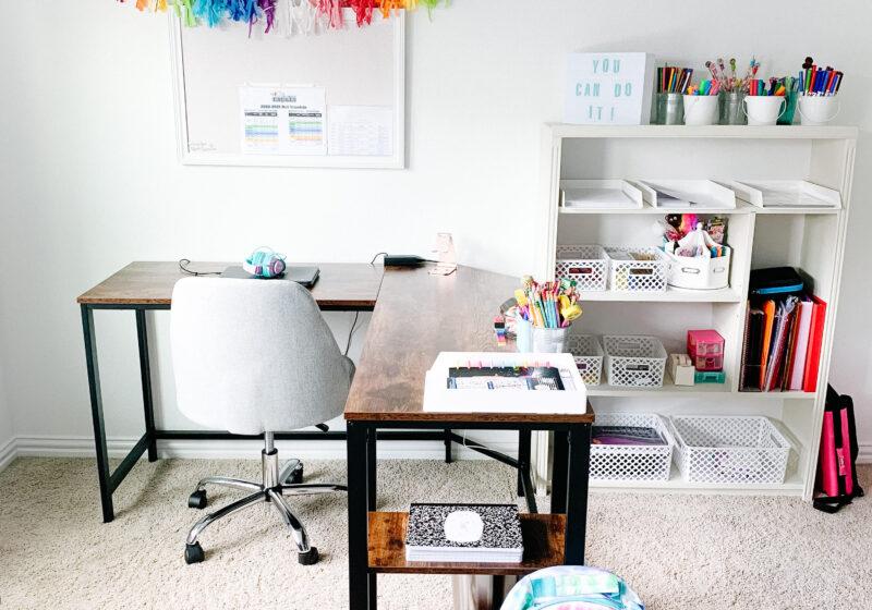 Smart ideas for homeschool spaces. #ABlissfulNest
