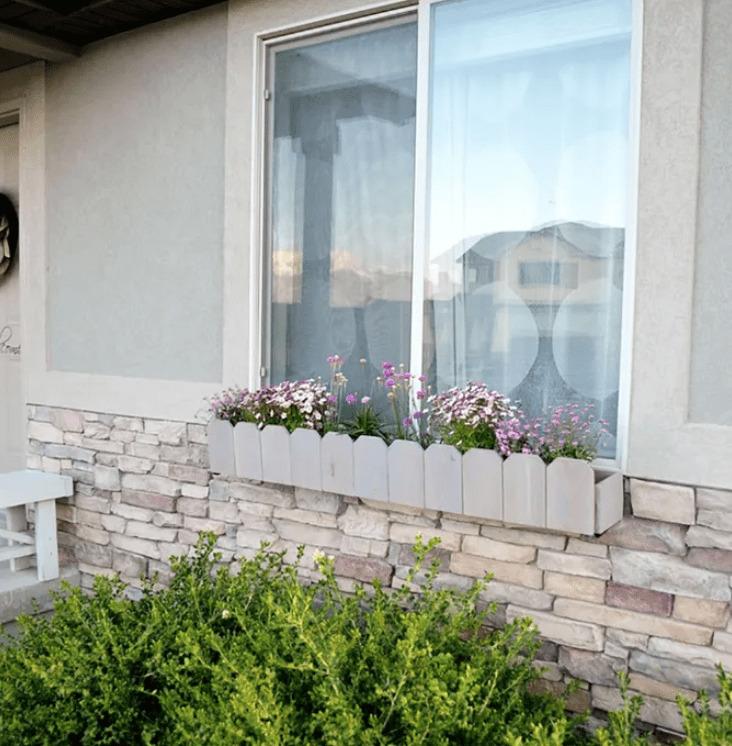 picket fence window planter design