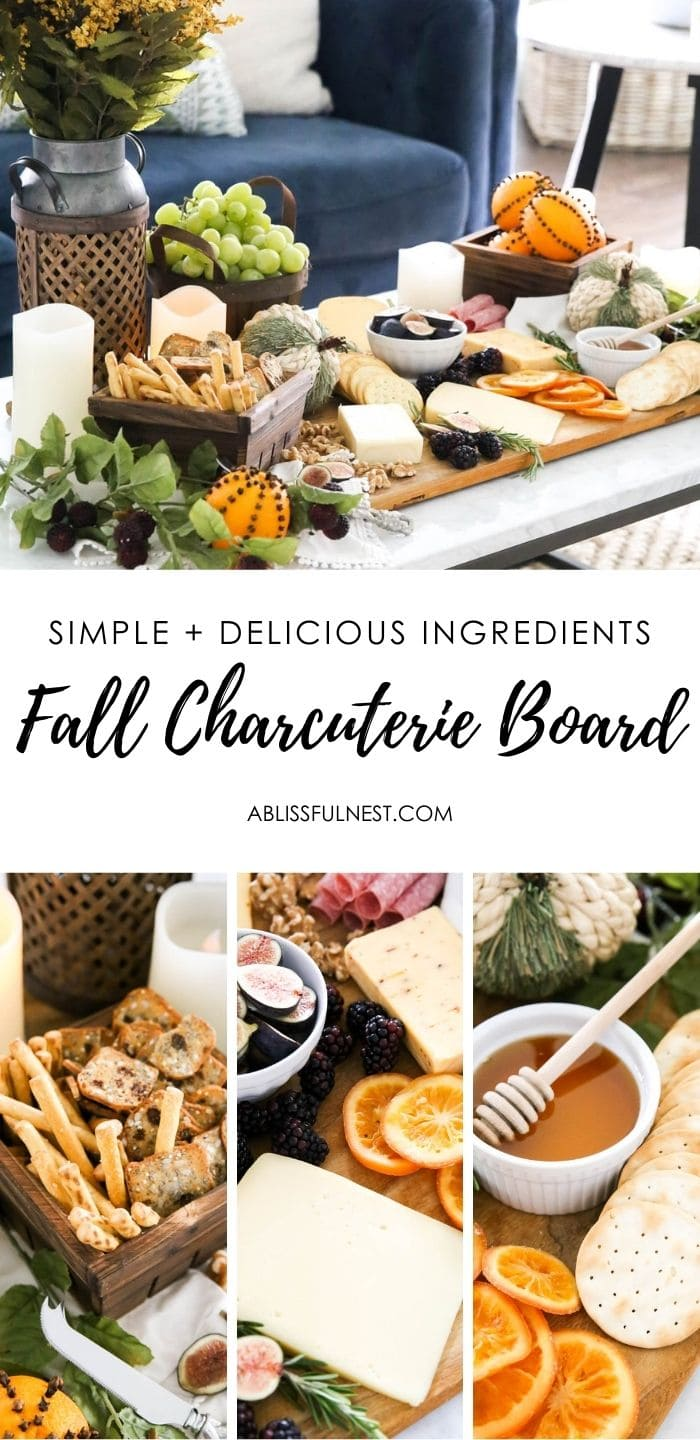 Create a harvest charcuterie board details. #ABlissfulNest #ad #RothCheese #fall