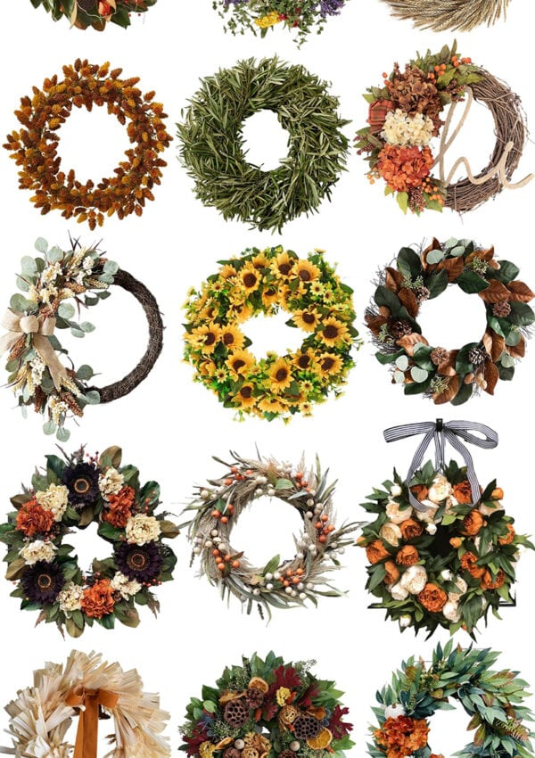 Beautiful Autumn Fall Wreaths + Where to Buy Them