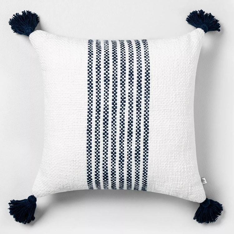 This striped throw pillow is a great addition to your home! #ABlissfulNest