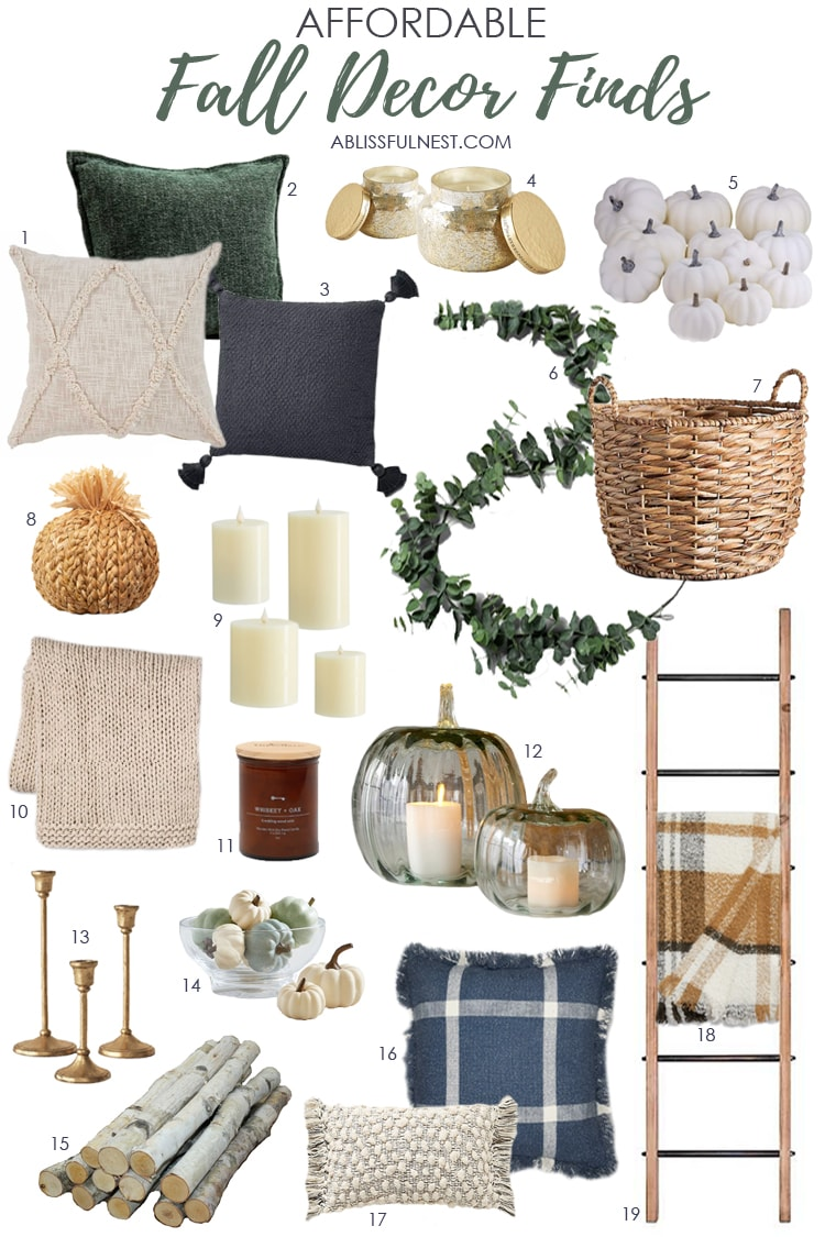 Affordable decor for fall to refresh your space for the season. #ABlissfulNest #falldecor