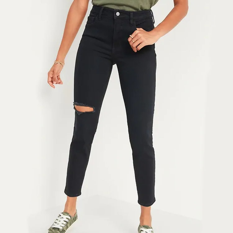 These black distressed skinny jeans are affordable, cute and perfect to wear with everything! #ABlissfulNest