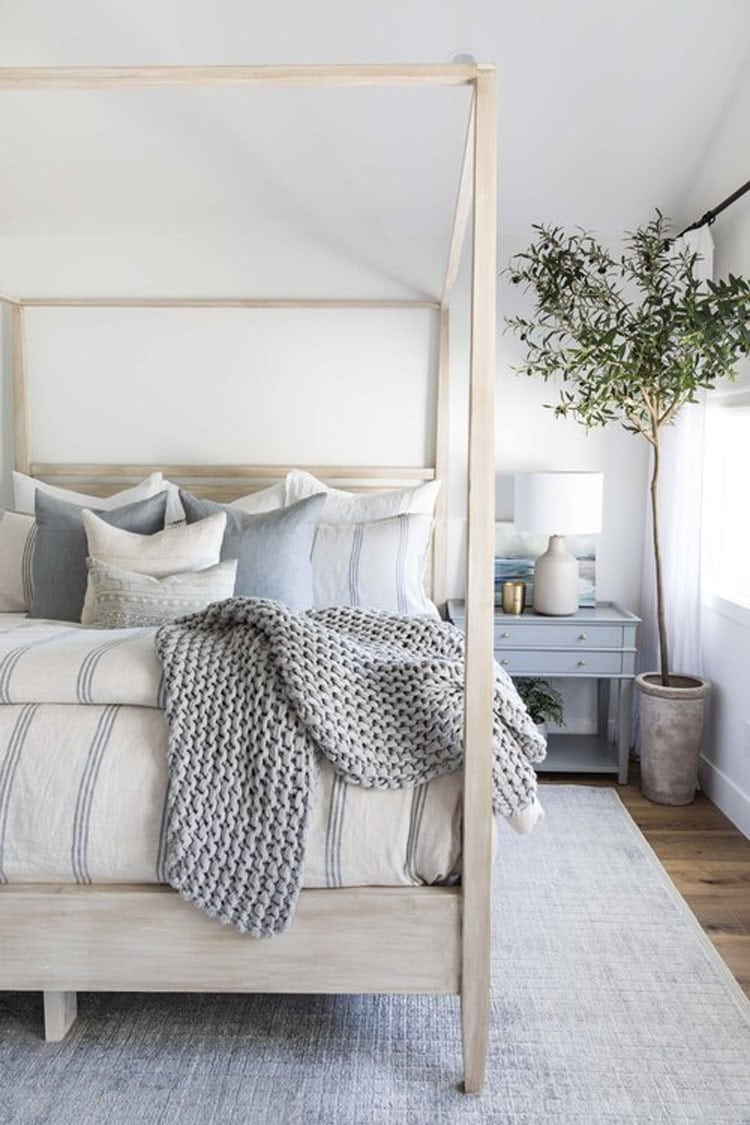 This gorgeous bedroom by Pure Salt Interiors is so beautiful!