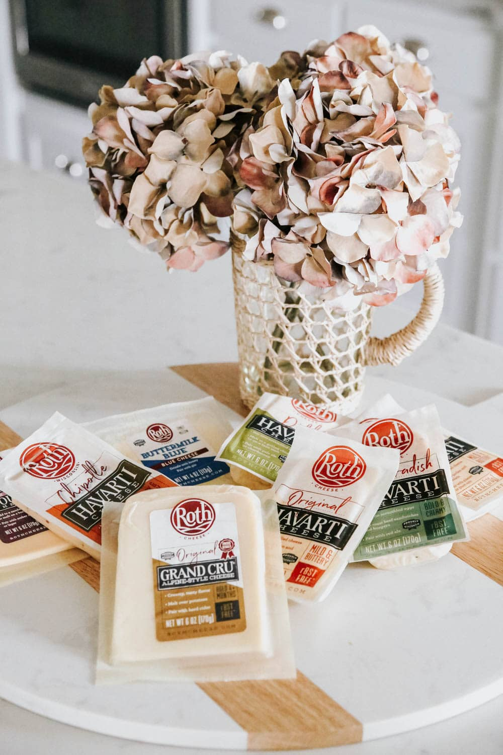 Start a cheese board with the best cheeses from Roth Cheese! #ABlissfulnest #cheesebaord #ad #RothCheese