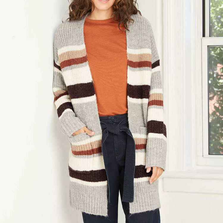 This striped cardigan is the perfect sweater to add to your closet this season! #ABlissfulNest