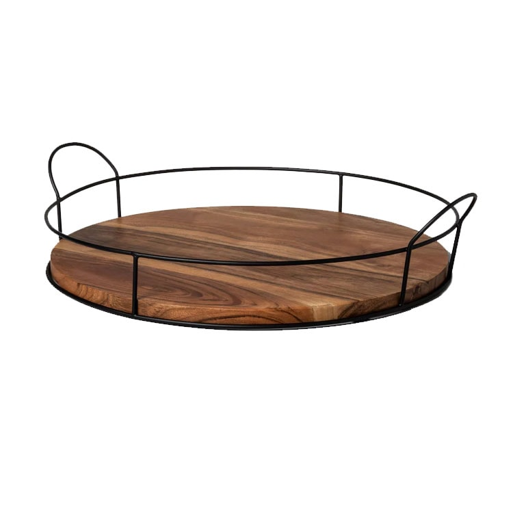 This wood and wire decorative tray is perfect to use throughout your home! #ABlissfulNest
