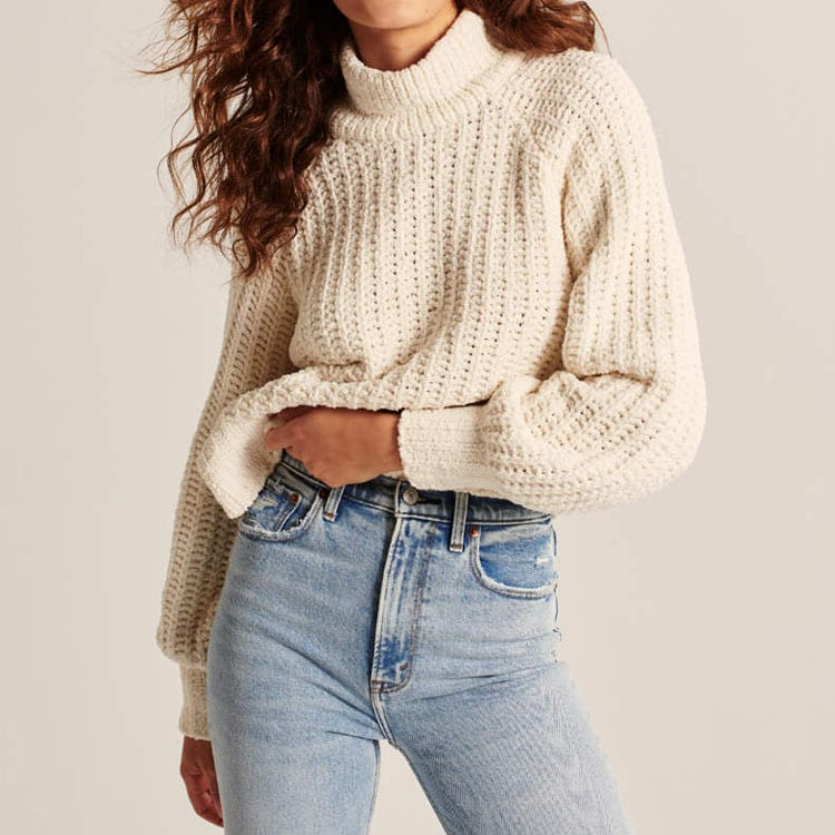 This cozy chenille turtleneck sweater is a must-have this winter season! #ABlissfulNest