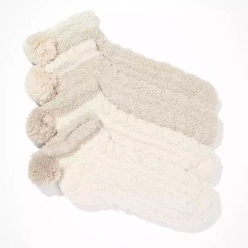 These cozy pom socks are a great stocking stuffer gift! #ABlissfulNest