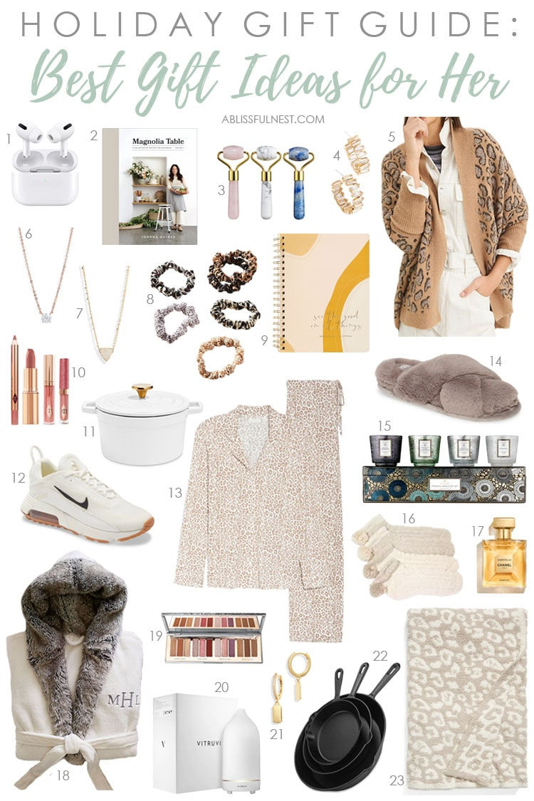 A comprehensive selection of gift ideas for women for the holiday season. #ABlissfulNest #giftideas #christmasgift