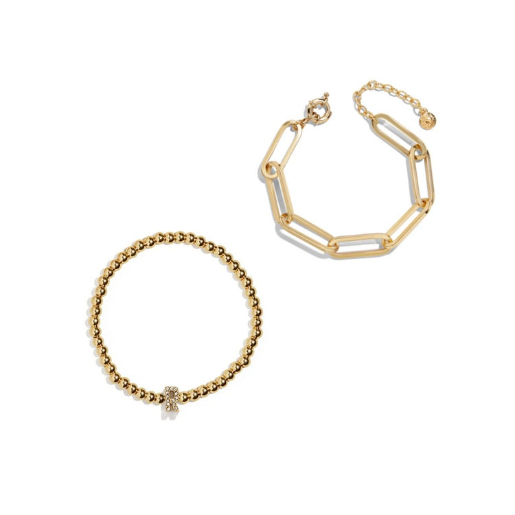 These gold bracelets go so well together and would be a perfect holiday gift! #ABlissfulNest