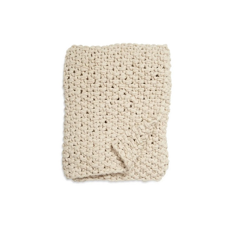 This ivory stitched throw blanket is on major sale and looks so warm! #ABlissfulNest