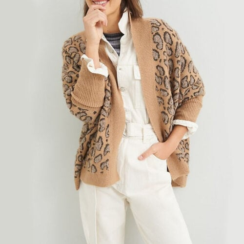 This leopard printed kimono is so trendy and fun and would make a great holiday gift! #ABlissfulNest