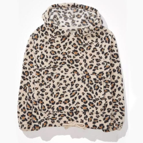 This leopard printed sherpa pullover is so cozy and a great gift too! #ABlissfulNest