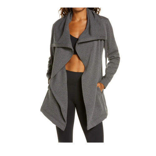 This cute gray wrap jacket is the perfect casual piece and such a fun gift! #ABlissfulNest