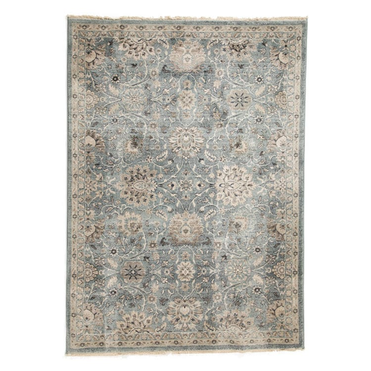 This printed area rug is a stunner and it's SO affordable! #ABlissfulNest
