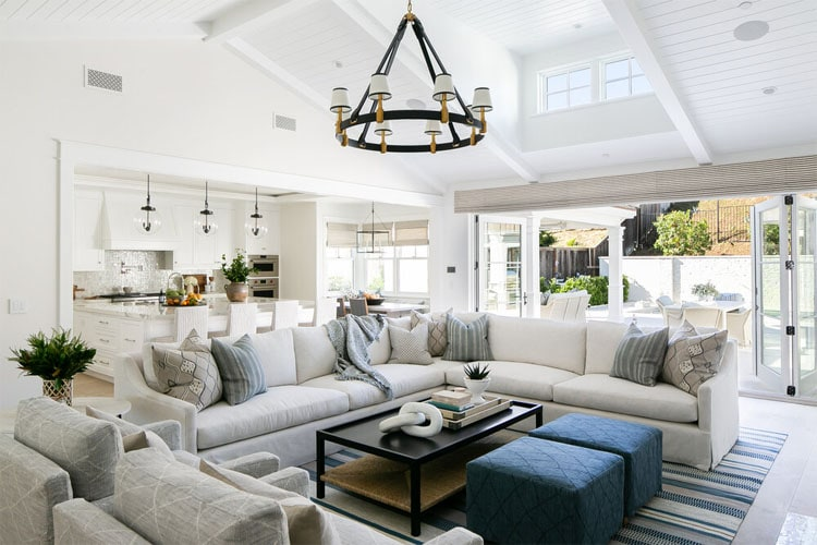This gorgeous living space by Brooke Wagner Design is ideal for any home!